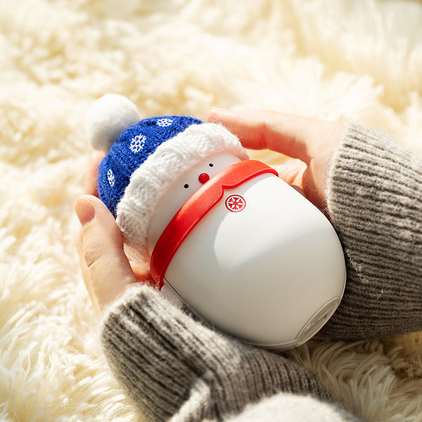 Cute Snowman with Hat Christmas Rechargeable Hand Warmer