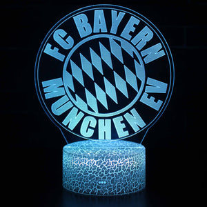 FC Bayern Munich Football Lamp 3D Night Light