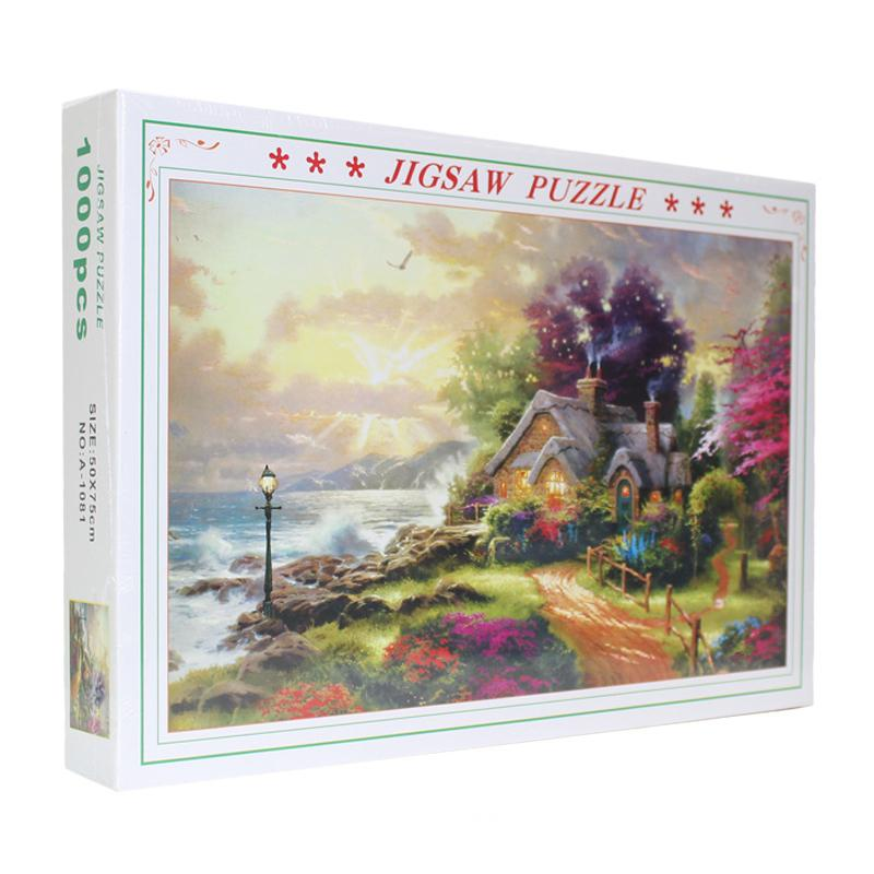 Fairy Story Cartoon Cabin Country House 1000 Pieces Jigsaw Puzzles