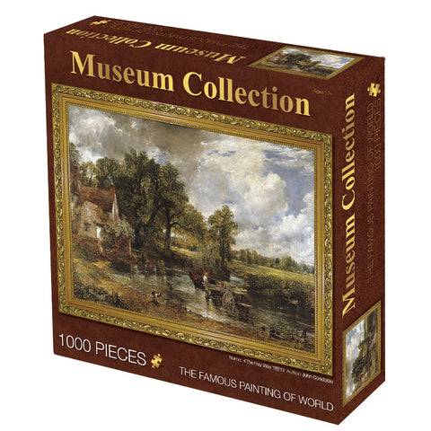 Famouse Painting The Hay Wain Wooden Wagon 1000 Pieces Jigsaw Puzzles