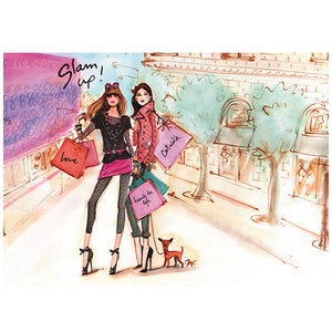 Fashion Girls Shopping Day Slam Up 1000 Pieces Jigsaw Puzzles