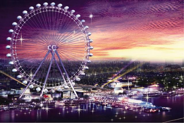 Ferris Wheel Night Cityscape 1000 Pieces Jigsaw Puzzles