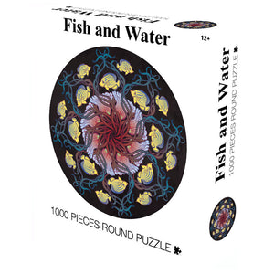 Fish and Water 1000 Piece Circle Round Jigsaw Puzzles