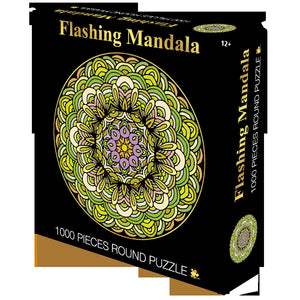 Flashing Mandala 1000 Piece Circle Round Jigsaw Puzzles