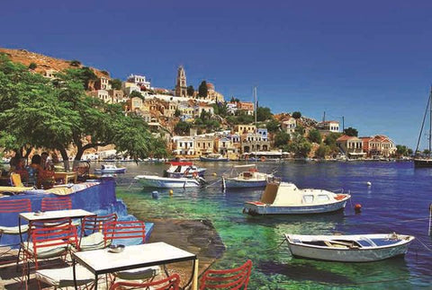 Greece Country Symi Greek Island Town 1000 Pieces Jigsaw Puzzles
