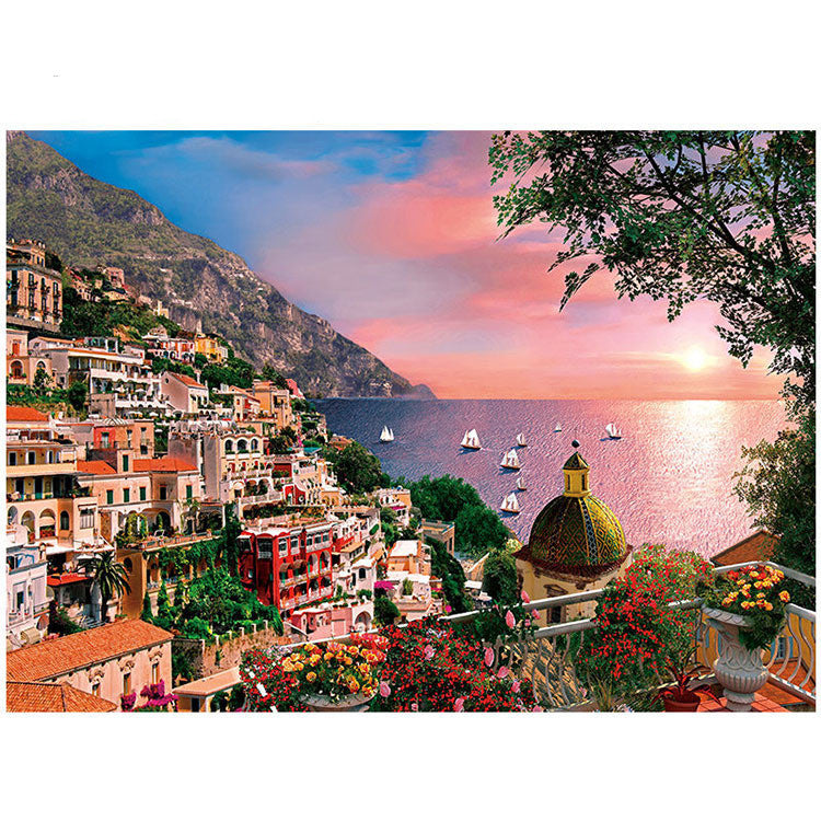 Italy Positano Beautiful Beach Scenic 1000 Pieces Jigsaw Puzzles