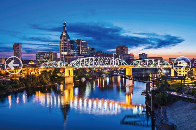 Nashville City Bridge Night View 1000 Pieces Jigsaw Puzzles