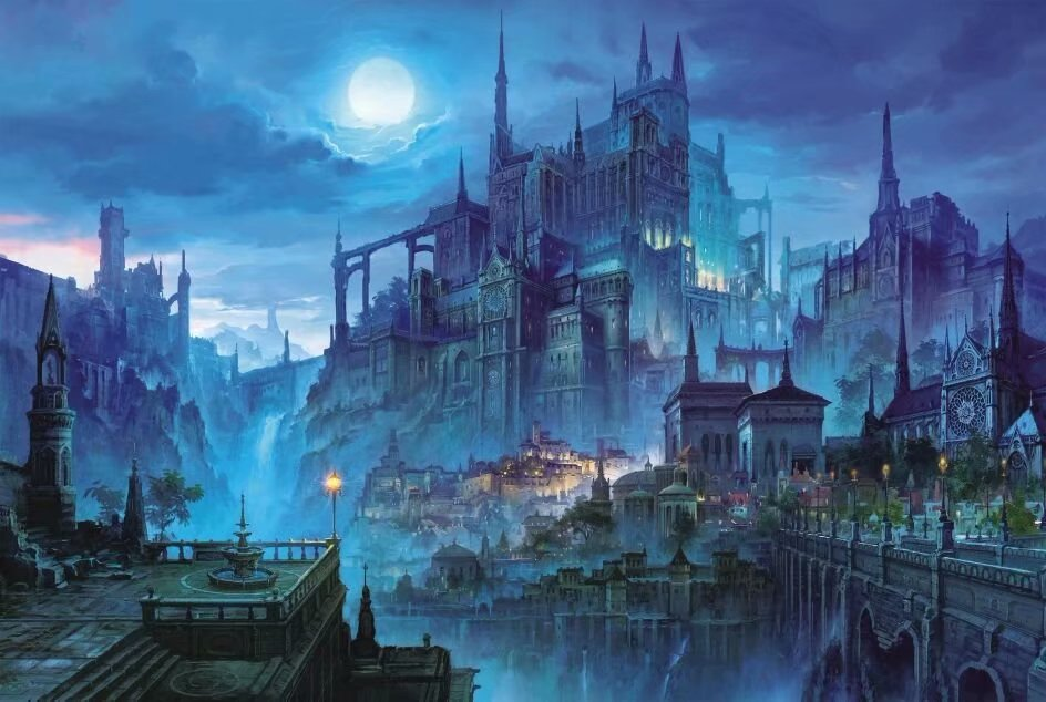 Fantasy Full Moon Night Castle 1000 Pieces Jigsaw Puzzles