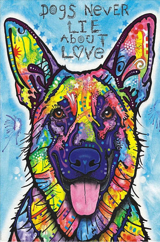 Dogs Never Lie About Love Art Painting 1000 Pieces Jigsaw Puzzles