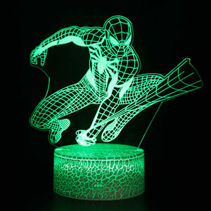 Jumping Spider Man Comic Hero 3D Night Light