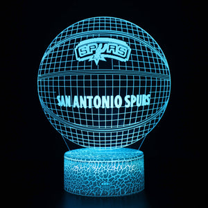 San Antonio Spurs NBA Basketball 3D Night Light