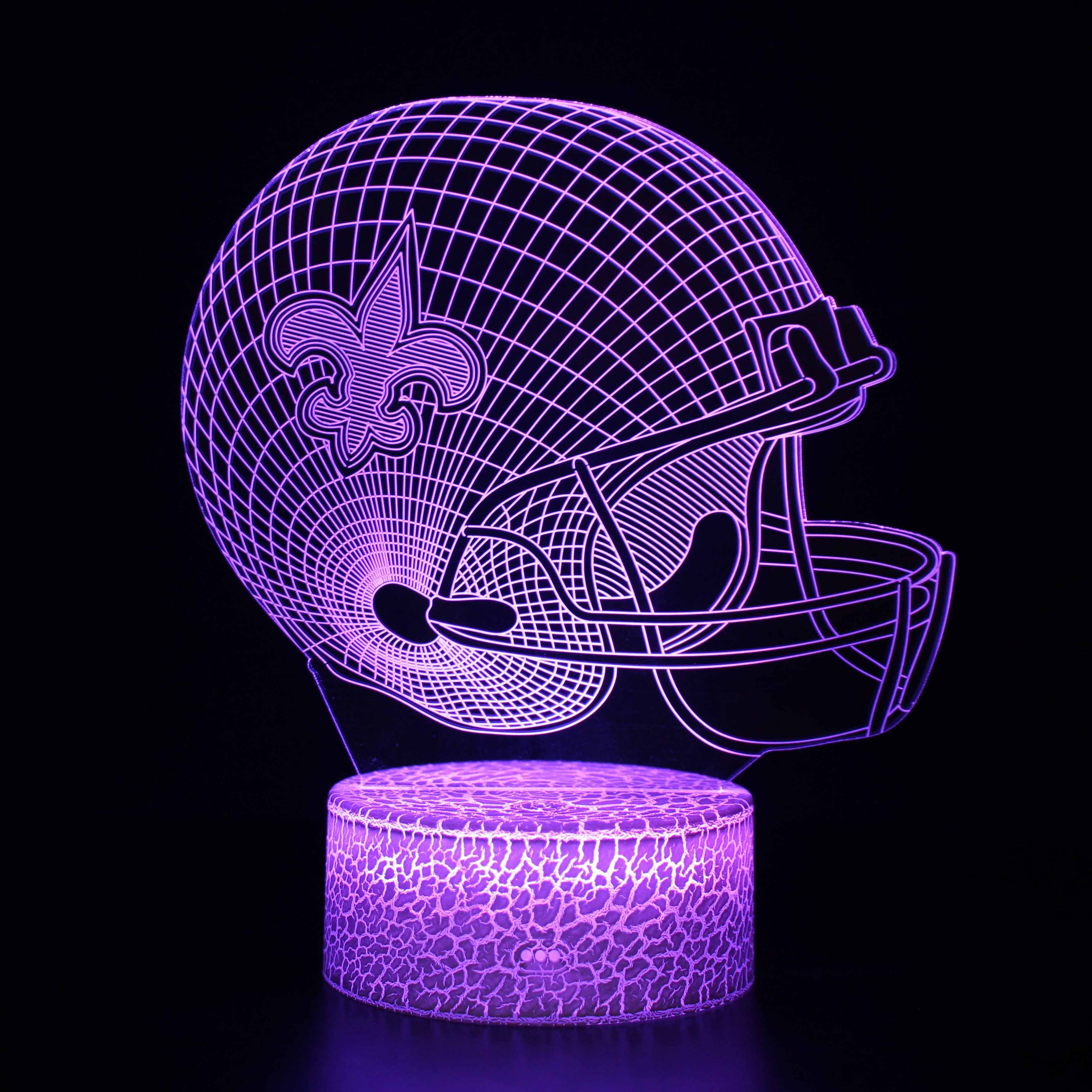 New Orleans Saints NFL Football Helmet 3D Night Light