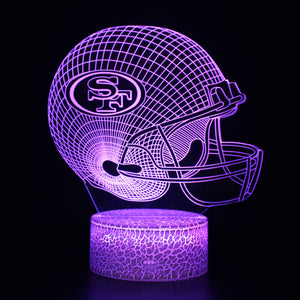 San Francisco 49ers NFL Football Helmet 3D Night Light