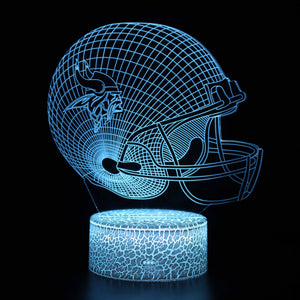 Minnesota Vikings NFL Football Helmet 3D Night Light