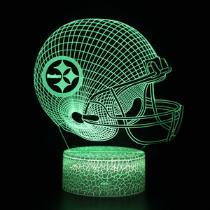 Pittsburgh Steelers NFL Football Helmet 3D Night Light