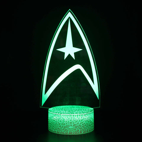 NASA Star Trek Logo 3D Night Light