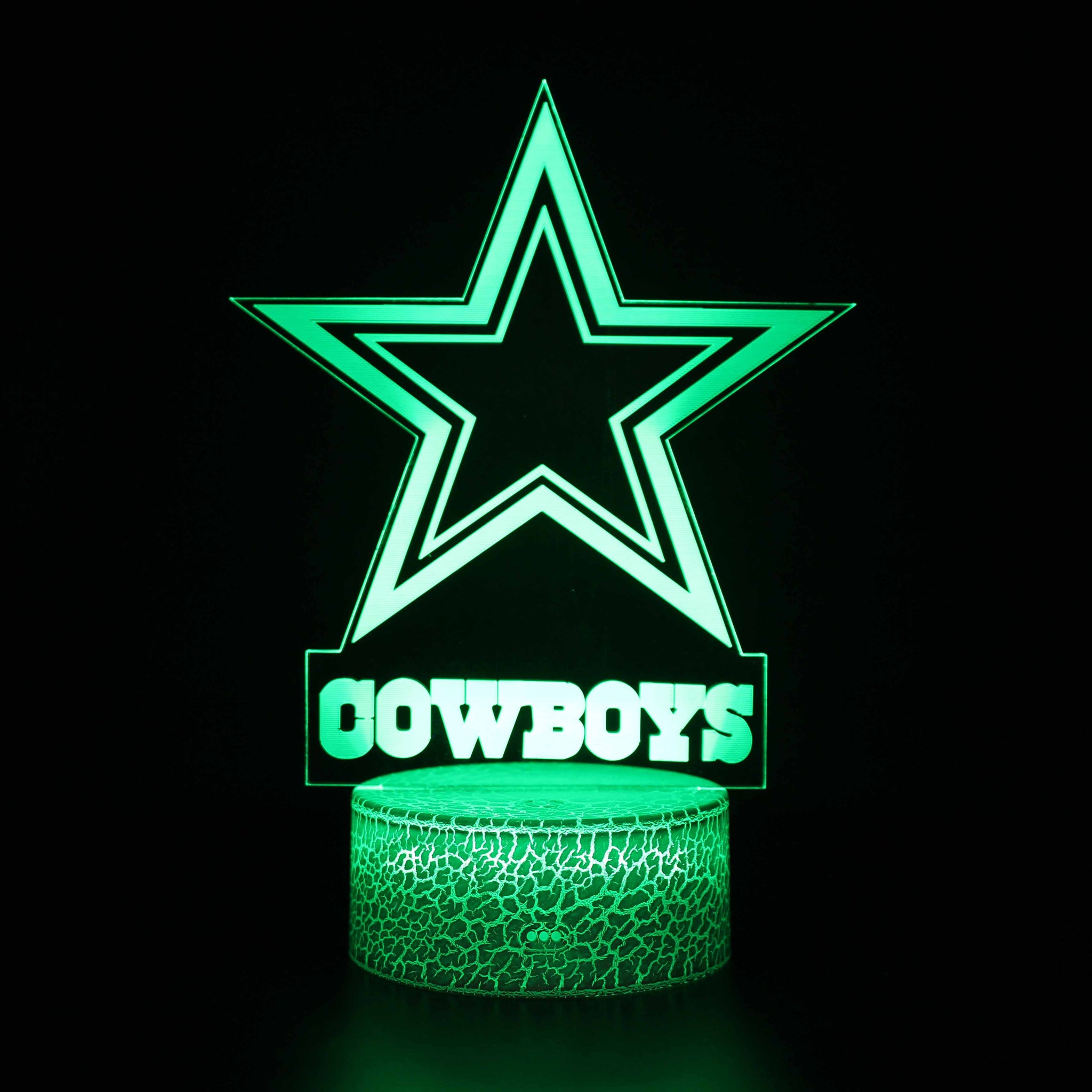 Cowboys NFL Logo NFL 3D Night Light