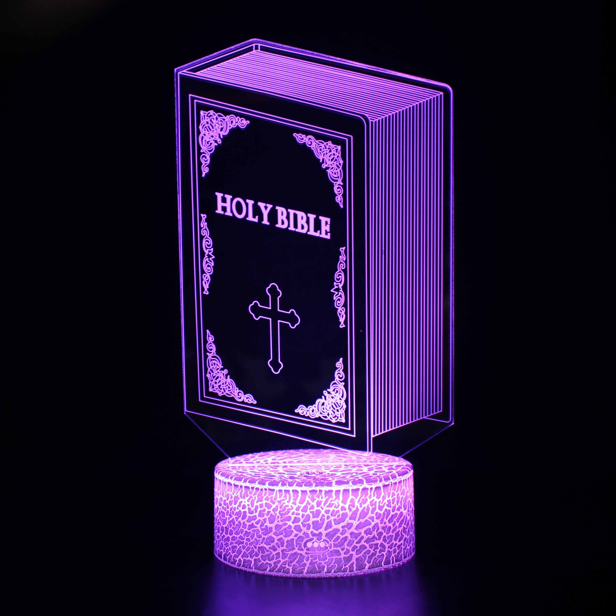 Holy Bible Book Religious 3D Night Light