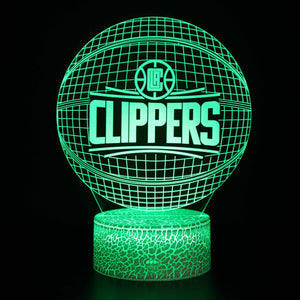 Los Angeles Clippers Basketball Team 3D Night Light