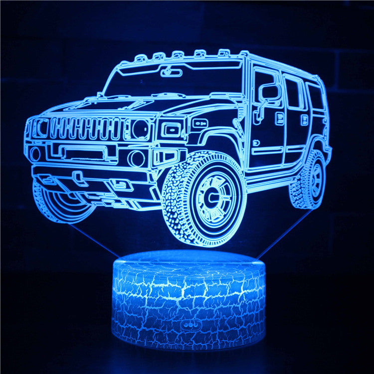 Cool Jeep Car Vehicle 3D Night Light