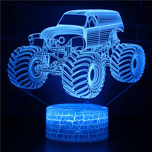 Monster Car Jam Truck 3D Night Light