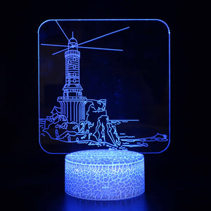 Beach Coast Lighthouse 3D Night Light