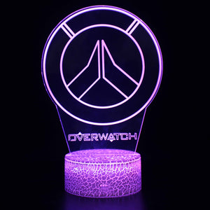 Video Game Overwatch Logo 3D Night Light