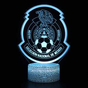 Seleccion Noticias Mexico Football Club 3D Night Light