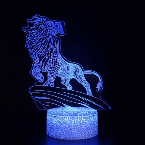 Lion on the Cliff 3D Night Light