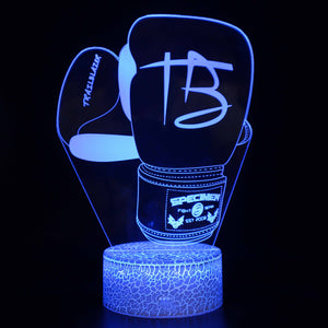 Specimen Boxing Gloves Trail Blazers 3D Night Light
