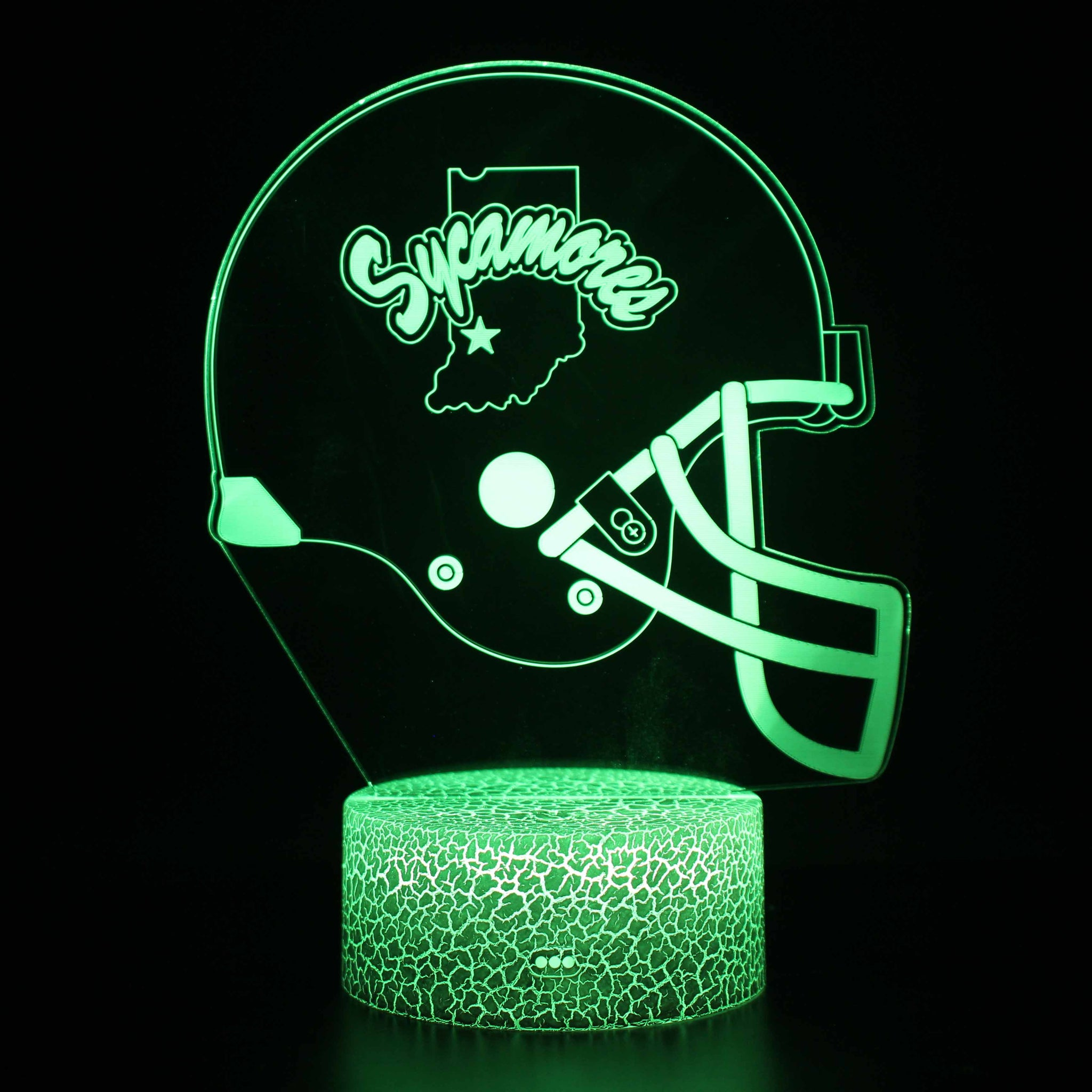Indiana State Sycamores Football Heltmet 3D Night Light