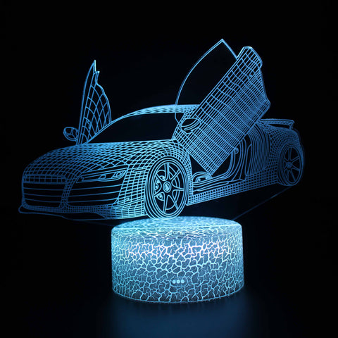 Lamborghini Car Model 3D Night Light