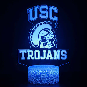 USC Trojans Football Logo 3D Night Light