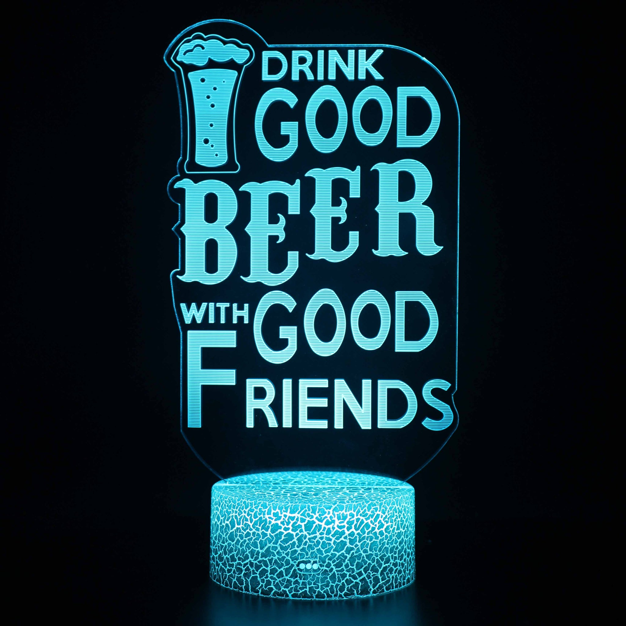 Funny Beer Quote 3D Night Light