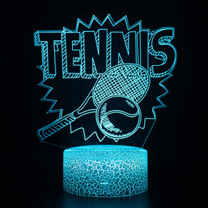 Tennis Sport 3D Night Light