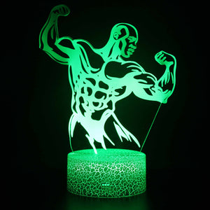 Bodybuilding Exercise 3D Night Light