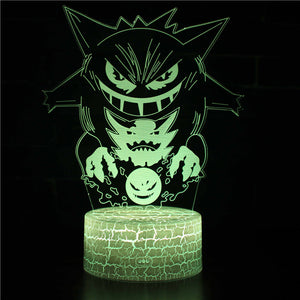 Pokemon Gengar Ghost 3D Night Light