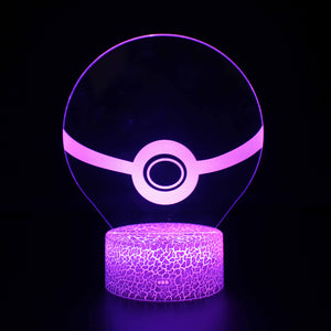 Pokemon Ball Model 3D Night Light