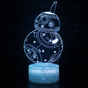 BB-8 Droid Robot 3D Night Light
