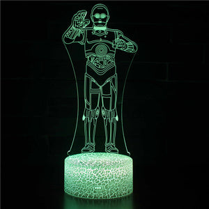 Greeting Humanoid Robot 3D Night Light