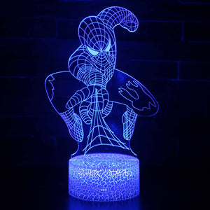 Superhero Marvel Comic Spiderman 3D Night Light