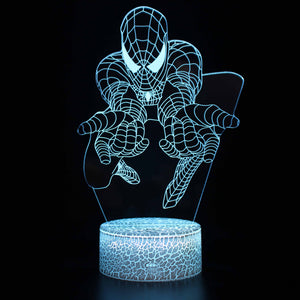 Spiderman Bend Forward Flexion Poses 3D Night Light