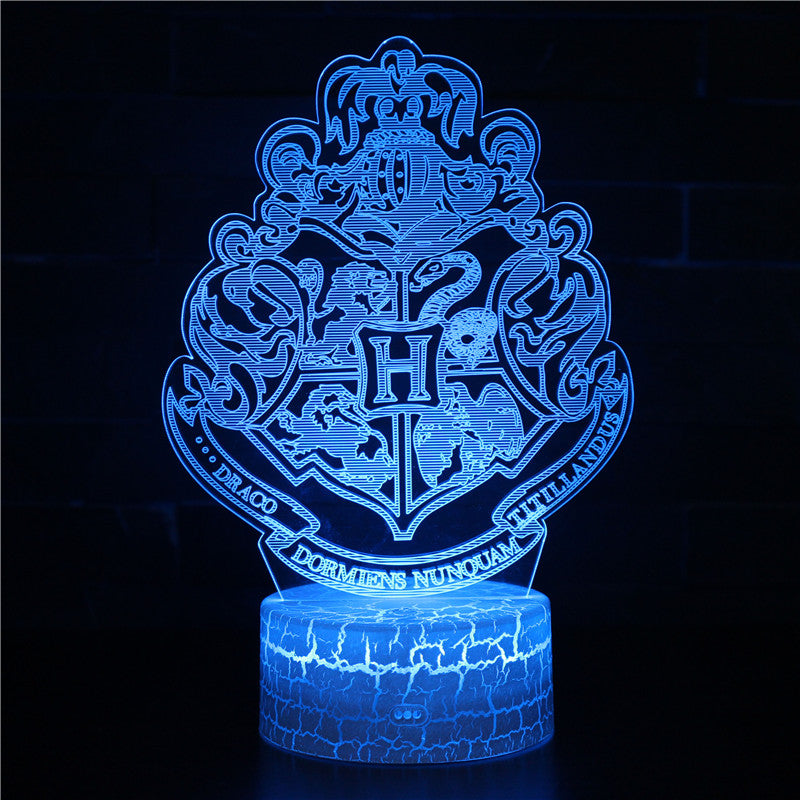 Hogwarts House Motto Harry Potter 3D Night Light