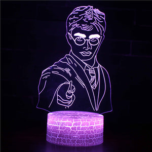 Young and Little Harry Potter 3D Night Light