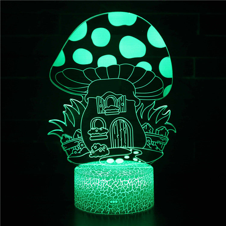 Fantasy House Mushroom World 3D Night Light