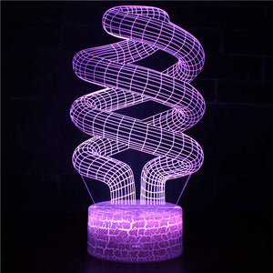 3D Illusion Lines Night Lights