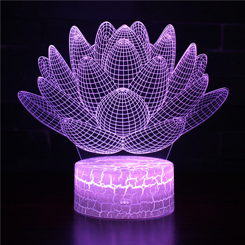 3D Cactus Illusion Night Light