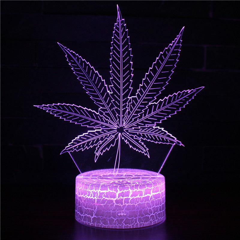 Fern Maple Leaf 3D Night Lights