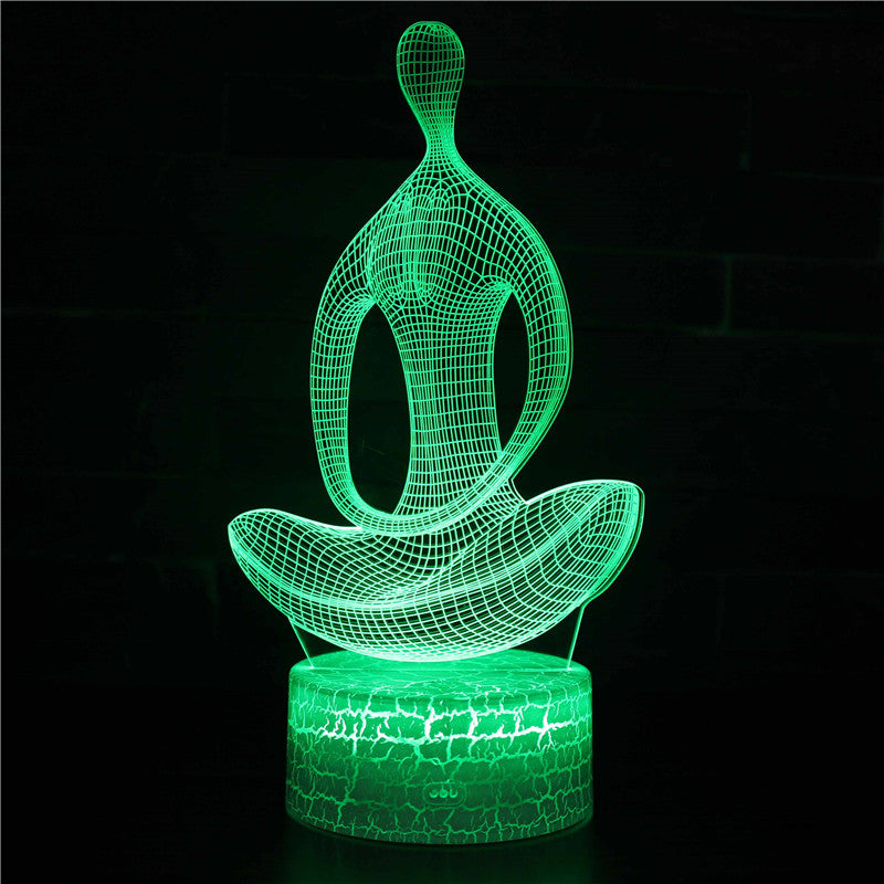 Meditation Yoga 3D Night Light