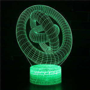 3D Illusion Look Circles Line Night Lights